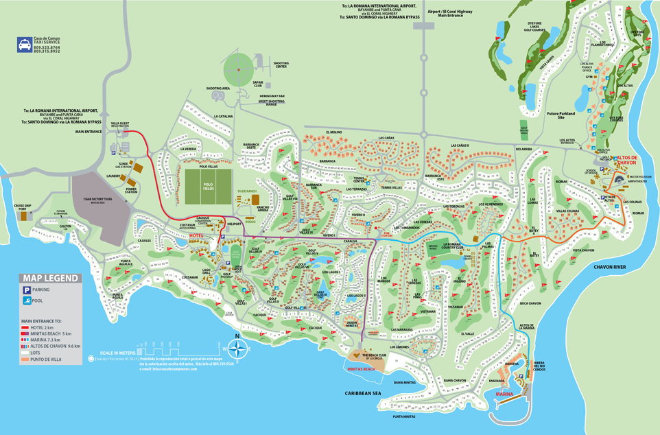 Printable Map of Casa de Campo